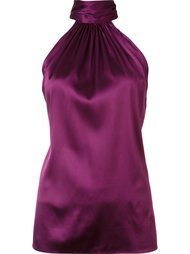 halterneck sleeveless blouse Ramy Brook
