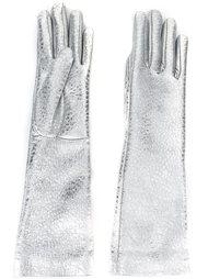 перчатки с отделкой металлик Jil Sander