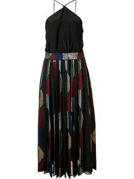 платье с вырезом-халтер Cinq A Sept