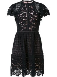 floral lace pleated skirt dress Rebecca Taylor