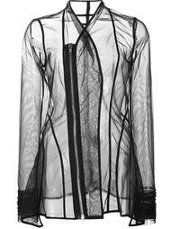 прозрачный приталенный пиджак 'Princess'  Rick Owens Lilies