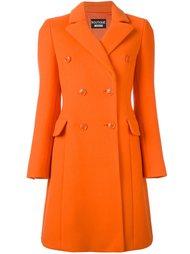 удлиненное двубортное пальто  Boutique Moschino