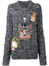 джемпер в крапинку с вышивками Dolce & Gabbana