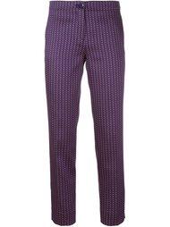 брюки с геометрическим узором Etro