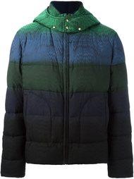 куртка-пуховик с капюшоном в полоску Missoni