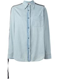 джинсовая рубашка со стразами Nº21