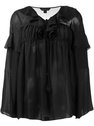 ruffled flared blouse Rachel Zoe