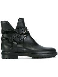 ботинки с ремешками на пряжках  Baldinini