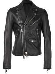 байкерская куртка с двухсторонней застежкой-молнией Les Hommes