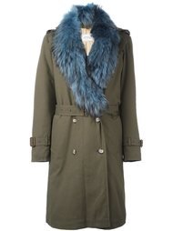 fur trimmed military coat  Forte Couture
