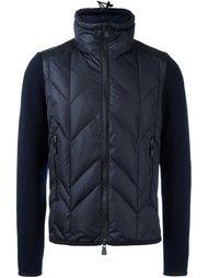 куртка-пуховик с трикотажными рукавами Moncler Grenoble