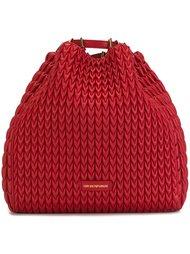 фактурная большая сумка-тоут Emporio Armani