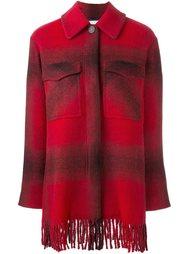 клетчатое пальто-рубашка T By Alexander Wang
