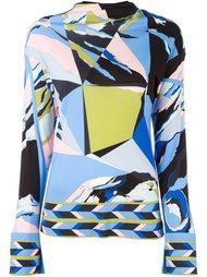 блузка с абстрактным принтом Emilio Pucci