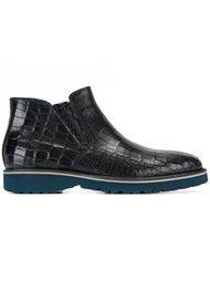 ботинки с эффектом крокодиловой кожи  Baldinini