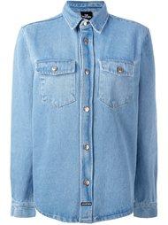 джинсовая рубашка с графическим принтом на спине Les (Art)Ists