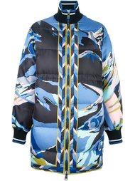 объемное пальто с абстрактным принтом Emilio Pucci