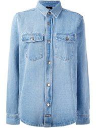 джинсовая рубашка с графическим принтом Les (Art)Ists