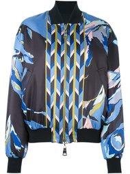 куртка-бомбер с абстрактным принтом Emilio Pucci
