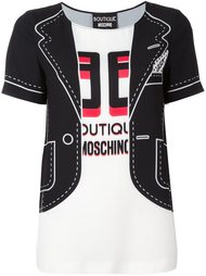 блузка с принтом пиджака Boutique Moschino