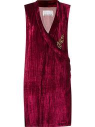 бархатное платье без рукавов Emannuelle Junqueira