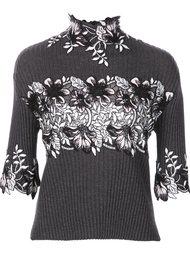 floral embellished pullover Giambattista Valli