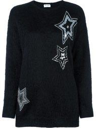 джемпер декорированный звездами Saint Laurent