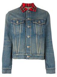 plaid collar denim jacket Junya Watanabe Comme Des Garçons