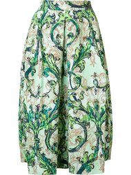 all-over paisley print skirt Monique Lhuillier