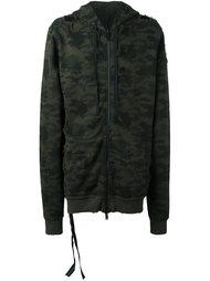 camouflage print hoodie  Unravel