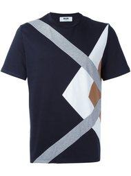 футболка с панельным дизайном  MSGM
