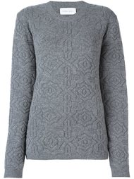 patterned knit sweater Christian Wijnants