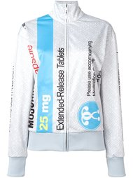 спортивная куртка с принтом 'pill packet' Moschino
