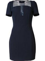 облегающее платье с короткими рукавами Versace Collection