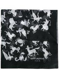 шарф с принтом знаков зодиака Saint Laurent