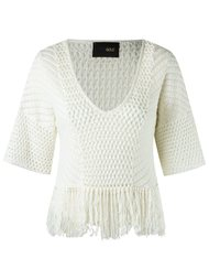 v-neck knit blouse Andrea Bogosian