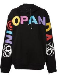 logo print hoodie Nicopanda