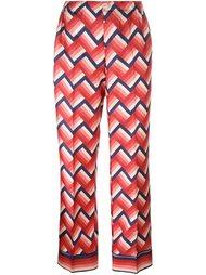 шелковые брюки с принтом For Restless Sleepers