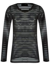 striped sheer blouse Andrea Bogosian