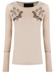 round neck blouse Andrea Bogosian