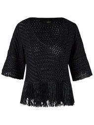 v-neck knit blouse Andrea Bogosian