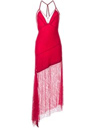lace overlay asymmetric dress  Manning Cartell