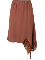 asymmetric lace detail skirt Nº21