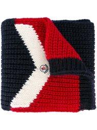 трехцветный вязаный шарф Moncler