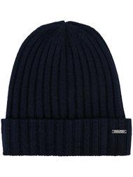 кашемировая шапка-бини в рубчик Woolrich