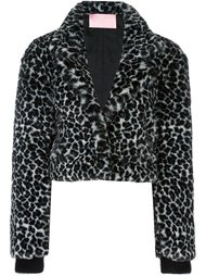 animal print cropped jacket Giamba