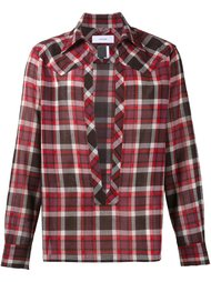 split front plaid shirt Facetasm