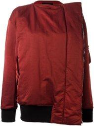 куртка со смещенной молнией  Yang Li