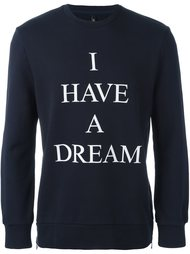 'I have a dream' sweatshirt Neil Barrett