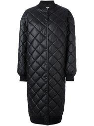 стеганое длинное пальто Stella McCartney